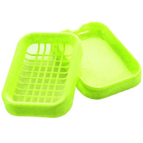 2 Stücke Kunststoff Doppelschicht Seifenschale boxen Halter Box Bad Liefert