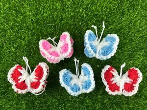 Crochet-knitting-3D-Butterfly-Yarn-embellishment-Decorate-blanket-clothes-dolls