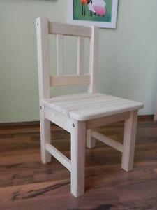 Details zu Kinderstuhl Stuhl Holzstuhl Stühle Holz UNBEHANDELT MASSIVHOLZ NEU