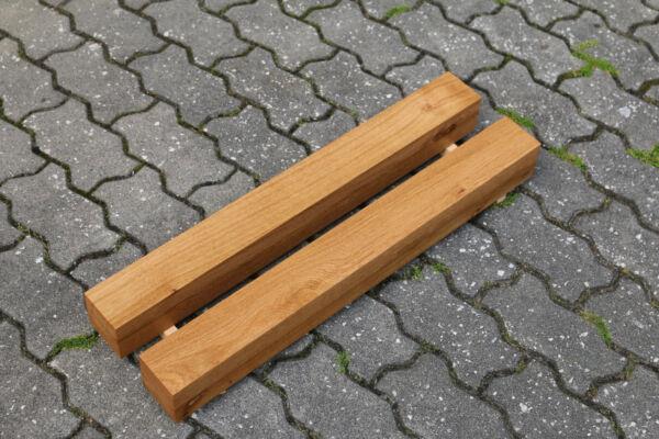 Quercia Gambe Tavolo Gambe Del Tavolo Kant Legno Quadrangolare Gamba Möbelfuß Supporto Inferiore 8x8cm Nuovo