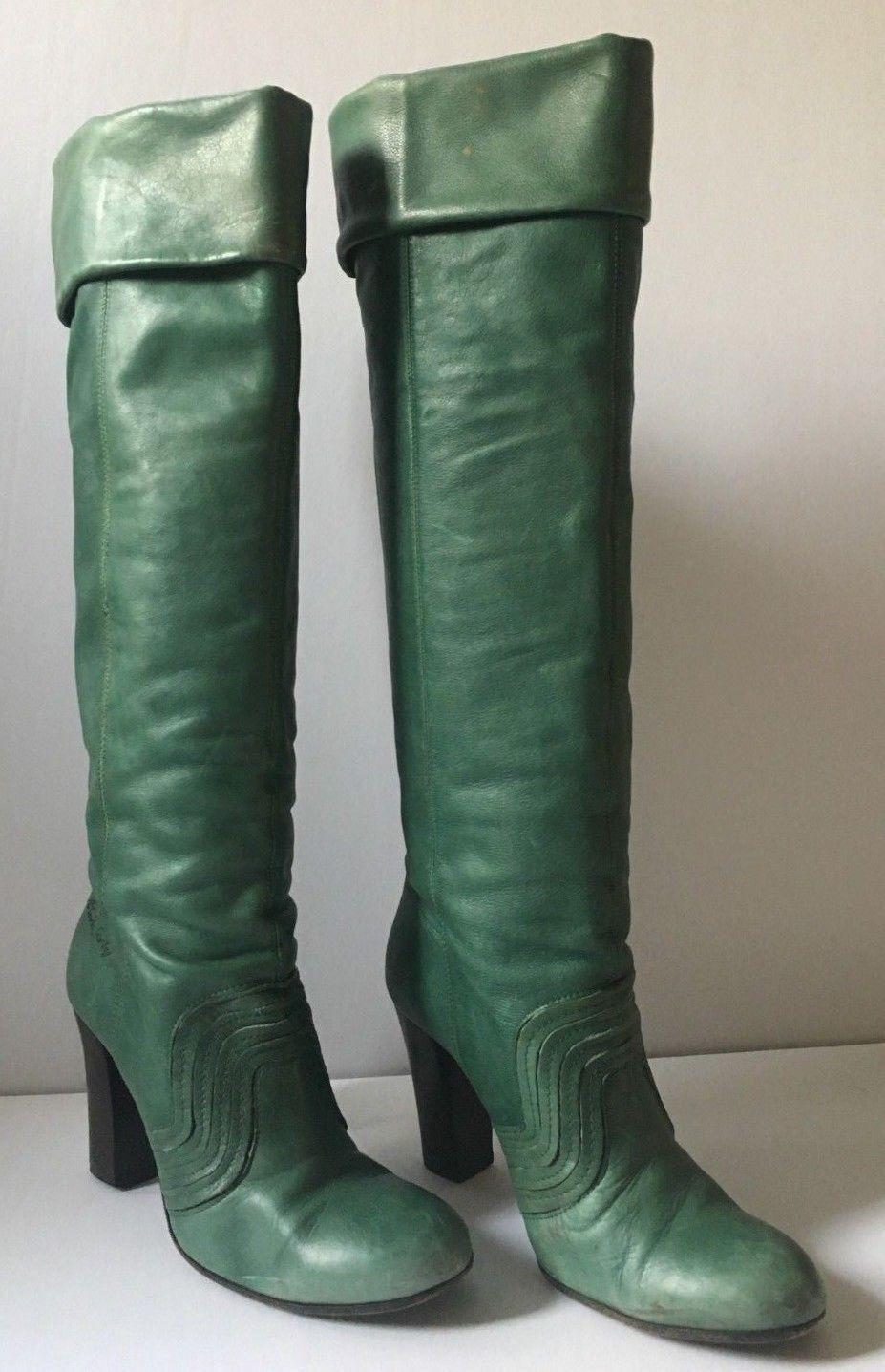 spedizione veloce e miglior servizio Rare Italian verde leather stivali Designer Designer Designer Miss Sixty Dimensione 40 (Dimensione 9) unique  100% nuovo di zecca con qualità originale