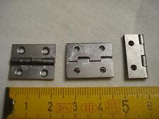 4 charnières de coffret 20 mm par 16 mm (réf C) acier