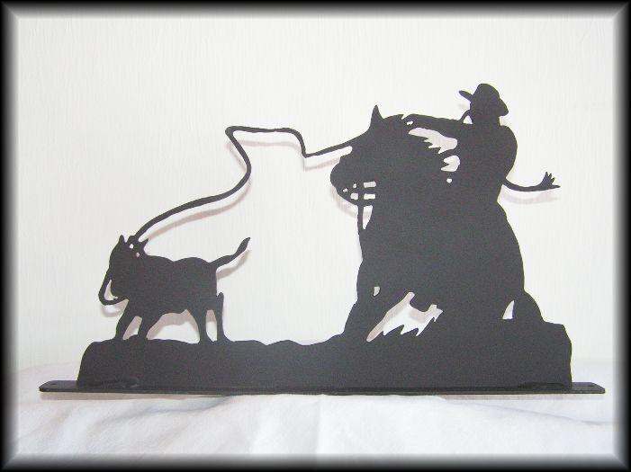 CALF ROPING   ROPER Western Horse Metal Art Silhouettes  comfortable