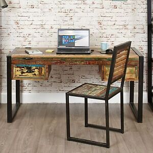 Genial Details About Urban Chic Reclaimed Wood Indian Furniture Laptop Home Office  PC Computer Desk