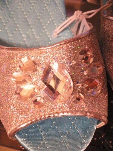 ELSA~DELUXE~Silver GliTTer+JeWeLs~HIGH HEEL~SHOES~Frozen~NWT~Disney Store~2015