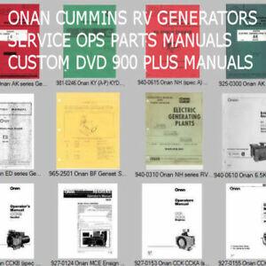 Details about RV Camper Recreational Vehicle Generator Service Manuals on