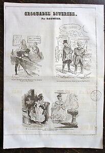 DAUMIER, LITHOGRAPHIE ORIGINALE, CROQUADES DIVERSES - France - Période: XIXme et avant - France