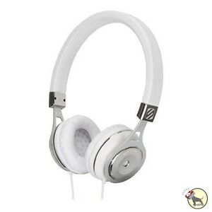 Scosche RH656M White On-Ear Headphones w/ tapLINE Remote & Mic