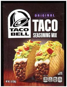 Taco Bell Original Taco Seasoning Mix Free Combined Shipping