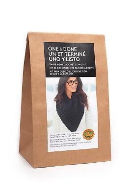 Lion Brand Yarn 606-101 One /& Done Kits Crochet Cowl Pink Lady
