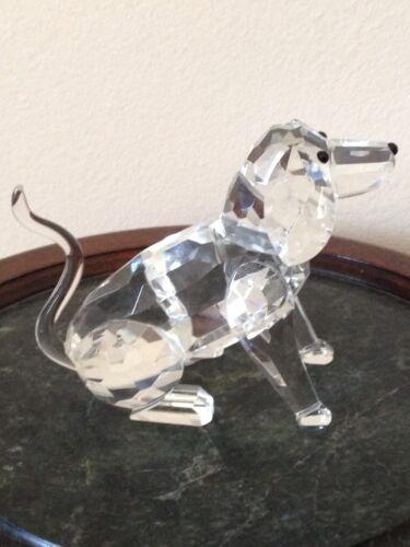 Beautiful Large Crystal Dog Figurine No Chips