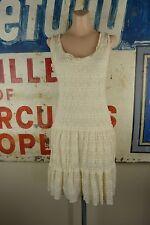Max Studio Ivory Lace Boho Bohemian Festival Dress Size Medium