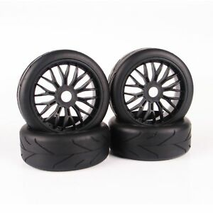 4PCS-On-Road-Tyres-Tires-amp-Wheel-Rim-17mm-Hex-For-HPI-HSP-Traxxas-1-8-RC-Buggy-Car
