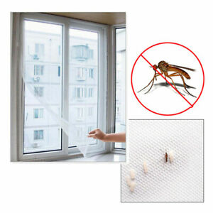 Mesh-Window-Curtain-Fly-Bug-Insect-Mosquito-Screen-Net-White-CY2