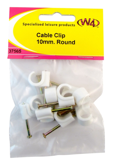 W4 Cable Clip 10mm Round 37565
