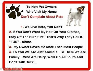 DALMATION House Rules for Non Pet Owners Funny Fridge Magnet Dalmatian