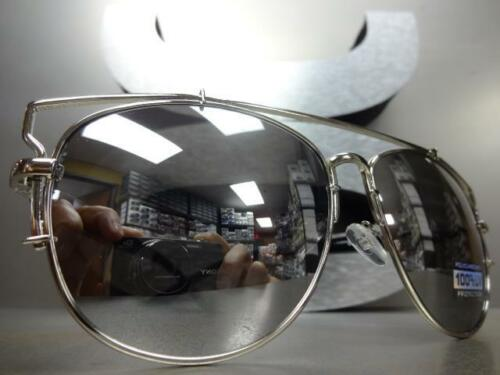 CLASSIC VINTAGE Cool 80s RETRO Style SUNGLASSES Chrome /& Black Frame Mirror Lens