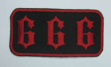 666 Patch iron or sew on patch FREE NORTH AMERICA SHIPPING
