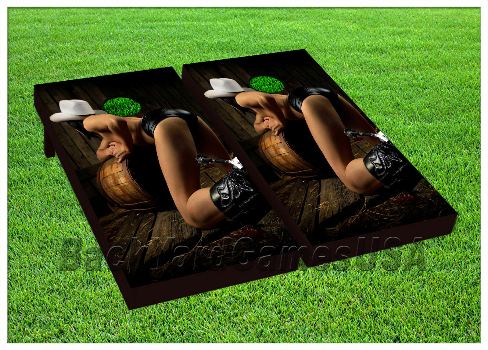 Sexy Country Girl Cowgirl CORNHOLE BEANBAG TOSS GAME w Bags Game Board Set 219