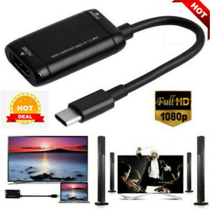 Type C Hub USB 3.1 to HDMI Adapter Cable For MHL Android Phone Tablet Black