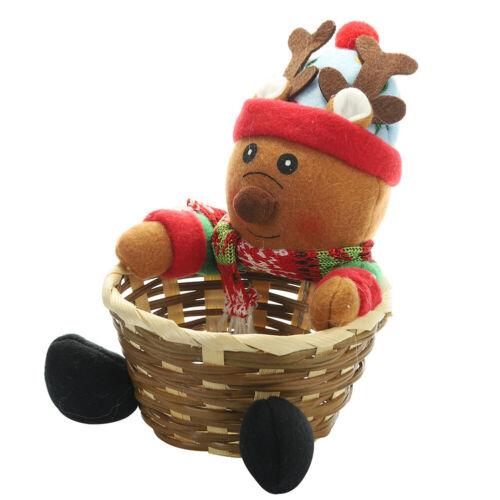 Frohe Weihnachten Candy Storage Basket Dekorationen Santa Claus Storage Baskets