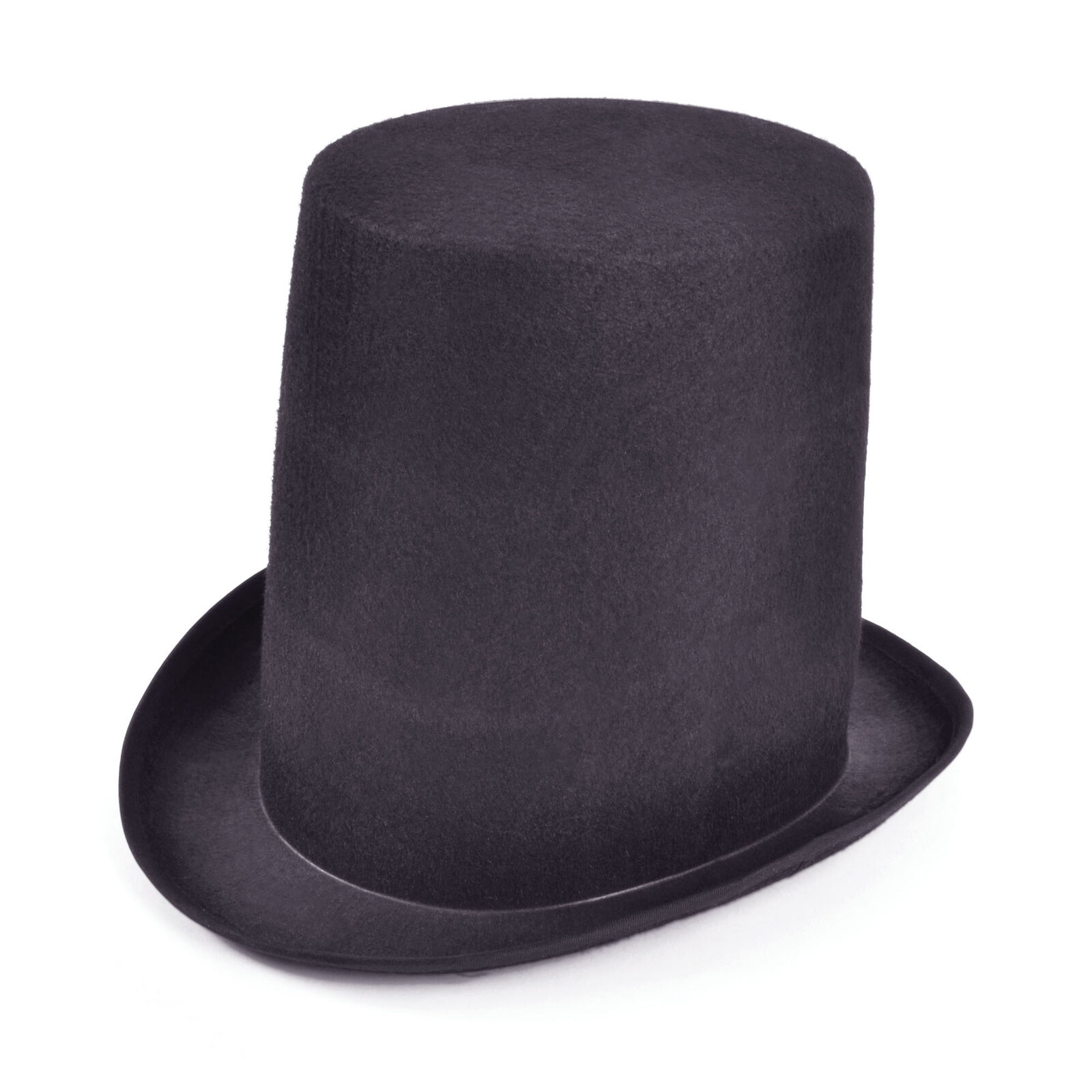 ADULT Tall Black Velour TOP HAT Victorian Stove pipe Gravedigger FANCY DRESS