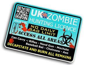 Drole-Zombie-Hunter-Permis-Design-pour-Apocalypse-Camping-Car-car-Camion-Sticker