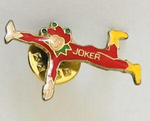 Joker-Clown-Jester-Lapel-Pin-Badge-Brooch-Vintage-C14