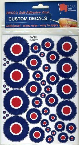 Becc RAF05 2x 75mm Emblems Pre-Cut Model Decals