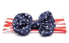 Red White Navy Stars Stripes American Flag Bow Headband  Patriotic 4th of July
