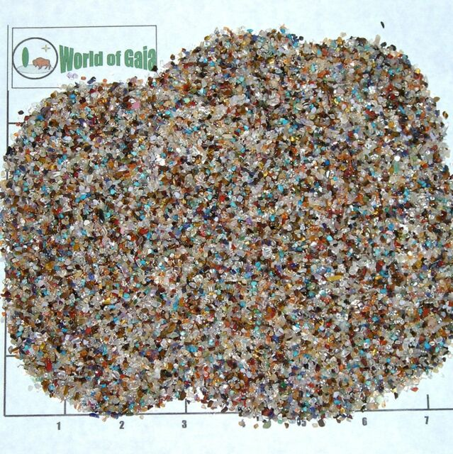 GEMSTONE Mix 1-3mm tumbled 1/2 lb bulk xxmini stones qtz jasper var, like sand