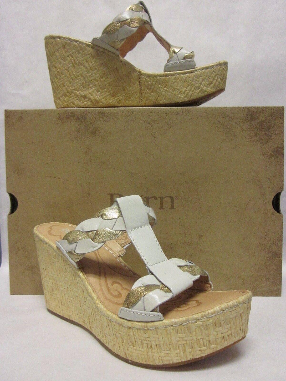 Nato Barstow Off bianca oro Wedge Platform Sandal  -Dimensione 8  vendita economica