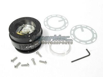 SALE NRG Steering Wheel Quick Release Kit Gen 2.0 BLACK Body /& CARBON FIBER Ring