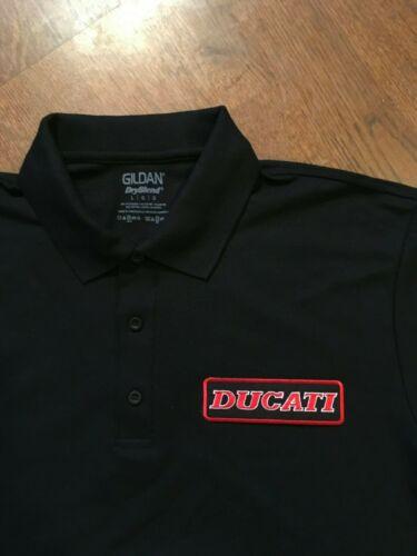 New DUCATI motorcycle black polo shirt S-M-L-XL-XXL Italian Bike