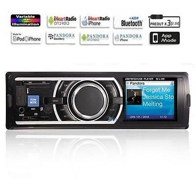 LCD Auto Car Stereo 4CH Audio In-Dash FM Aux Input Receiver SD USB MP3 Radio PK