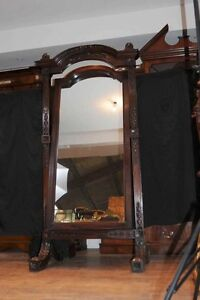 Antique-Hand-Carved-French-Cheval-Mirror-Mirrors-Mahogany