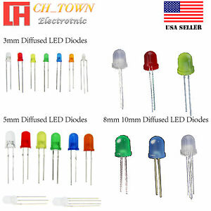 3mm-5mm-8mm-10mm-LED-Light-Emitting-Diodes-Round-White-Red-Blue-Green-RGB-Lights