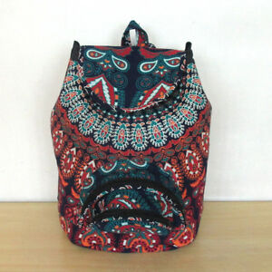 Mandala-Unisex-Backpack-Bag-Indian-Cotton-Hippie-Multi-Men-Women-Fashion-Bags