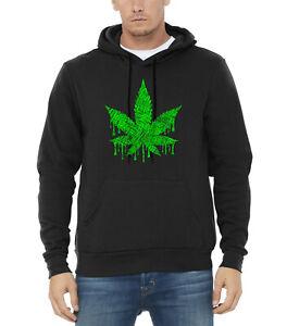Cannabis Black High Sweater Kush Leaf Weed Blunt Sketch Hoodie Men's Marijuana qPWOtcvyn