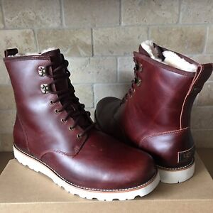 bfed722175a Details about UGG HANNEN TL CORDOVAN WATERPROOF LEATHER SHEEPSKIN BOOTS  SHOES SIZE US 12 MENS