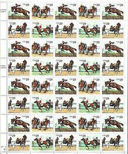 ORLEY STAMPS  US SCOTT Cat #  2756-9  Sports Horses    FULL SHEET MNH/OG