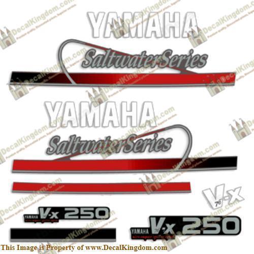 Yamaha 250hp (VX250) Saltwater Series Decals 3M Marine Grade Boat Decals