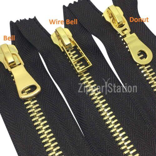 bolsos abrigo cremallera resistente cremalleras. #8 De Oro Pulido cremalleras Extremo Cerrado-Bolsos