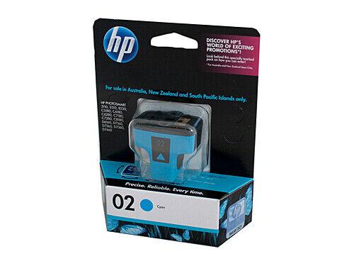 HP No.02 #02 Cyan Ink Cartridge C8771WA For PHOTOSMART D6100 C8180 C8100 C7280