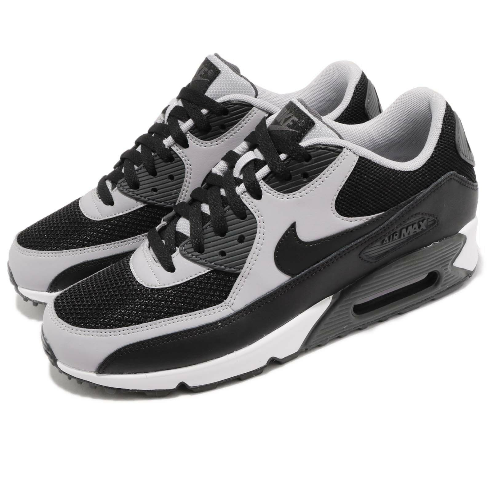 Nike Air Max Grey 90 Essential Black Wolf Grey Max Mens Running Shoes 537384-053 874a12