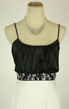 NWT Sleeveless Windsor $100 Ivory Black Long Formal Cruise Evening Dress size 3