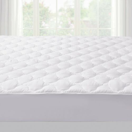 """Puredown® Quilted Fitted Mattress Pad Cover Stretches Up To 18/"""" Deep Bedding"""