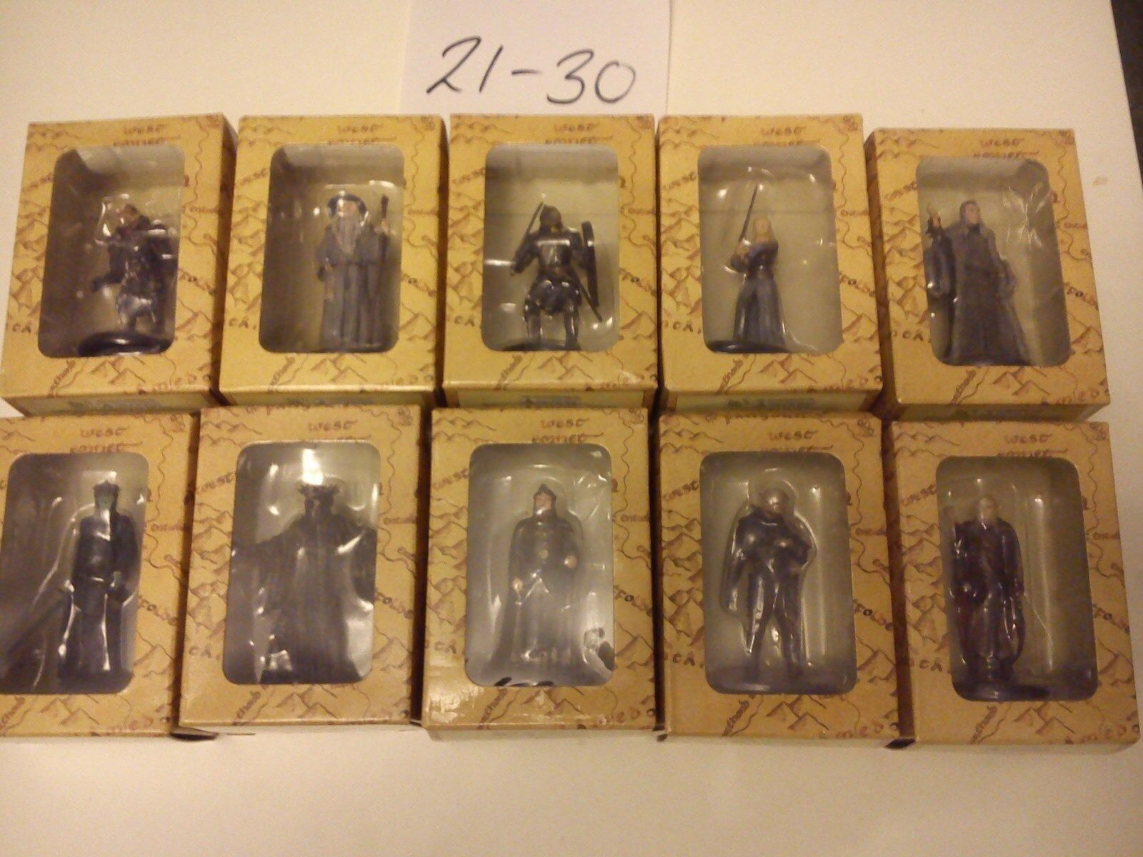 Lord of the RingsModels Figures Figures Figures Figurines 21-40 (20) Eaglemoss Publication fe24d5