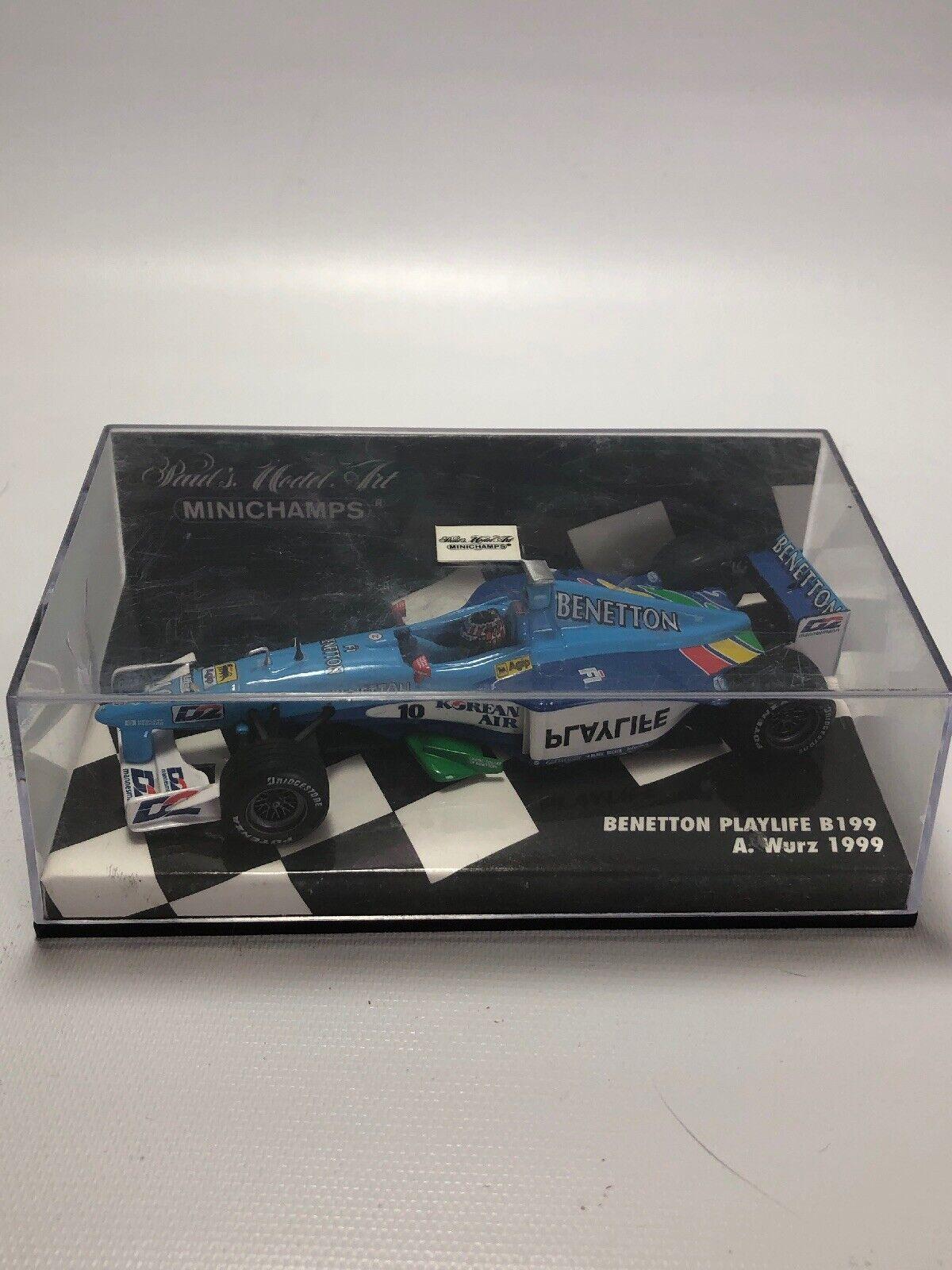Pauls Model Art Mini Champs  Benetton Playlife B199 A Wurz 1999
