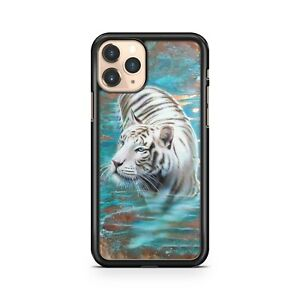 Elegante-Bianco-Majestic-Tigre-Animali-Blu-Luscious-Acqua-Fine-Telefono-Custodia